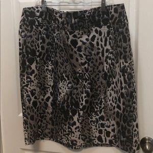 Animal Print Denim Pencil Skirt Size 20W by Cato